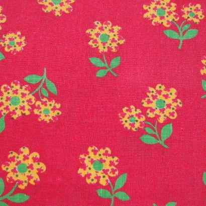 #007 かわいい赤いお花のお花柄
