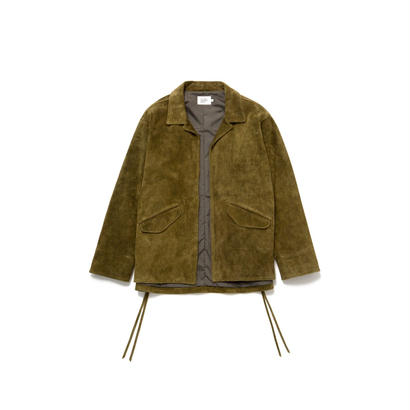 SUEDE COACHES JACKET - D.GRN