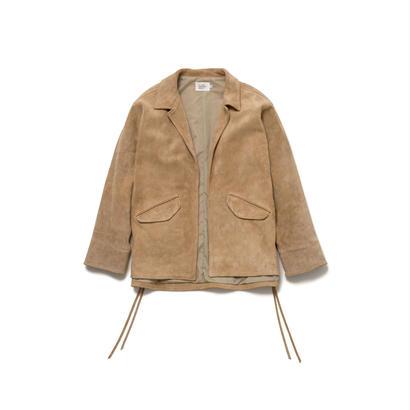 SUEDE COACHES JACKET - BEG