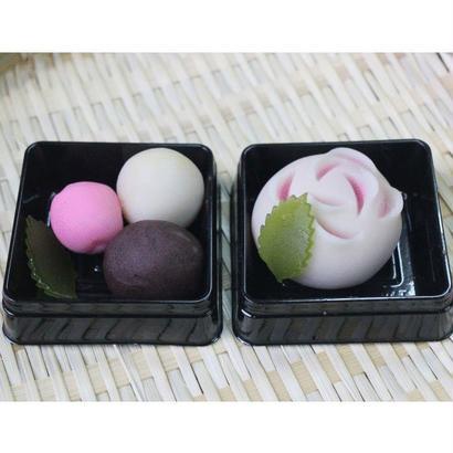 おうちで楽しむ ねりきり☆基本セット/ばら(桃)+ばら(黄)
