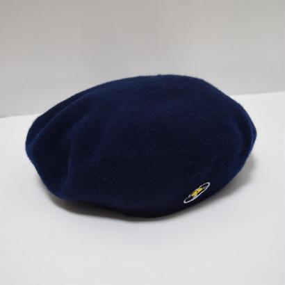 「レコードワッペンベレー帽」 ネイビー F 秋冬 新作 WATERFALL ユニセックス