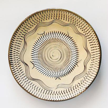 小鹿田焼 8寸皿 g