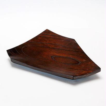 木の器 変形六角皿