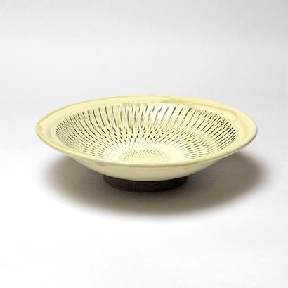 小鹿田焼*おんたやき/6寸中深リム皿