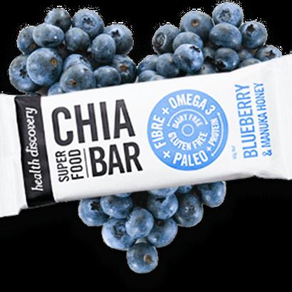 Chia Bar - Blueberry and Manuka Honey  (10個入りパック)