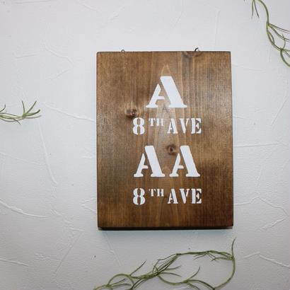 壁掛け木製サインプレート
