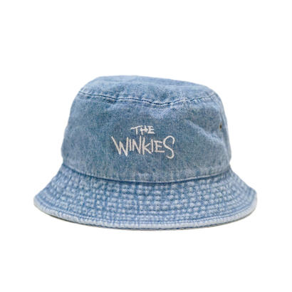 WINKIES DENIM BUCKET HAT (LIGHT DENIM/WHITE)