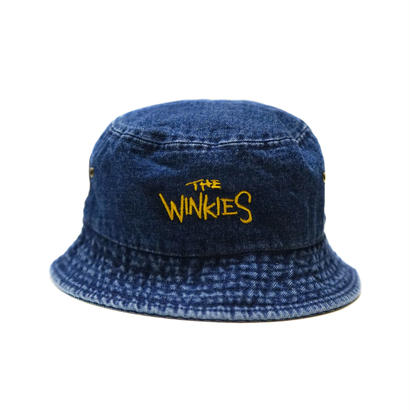 WINKIES DENIM BUCKET HAT (DARK DENIM/YELLOW)