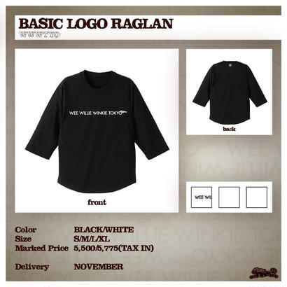 [30% OFF] BASIC LOGO RAGLAN (BLACK , WHITE)