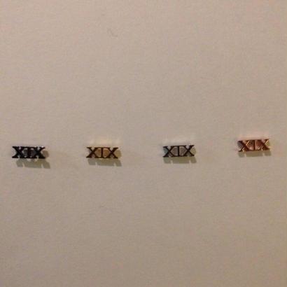 キャッチ型XIXピアス(1個)