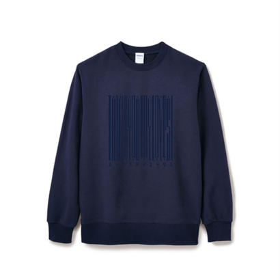 【Square】Thanks Barcode Crew  neck  ネイビー×ネイビー