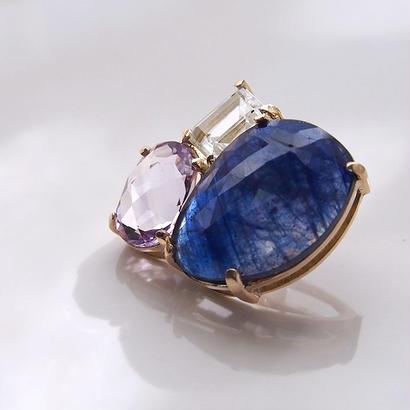 1点もの■Blue Sapphire Bijou P 片耳ピアス