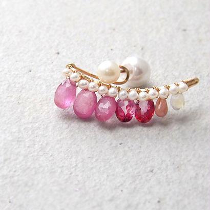 Pink bijou P-L-size片耳売り