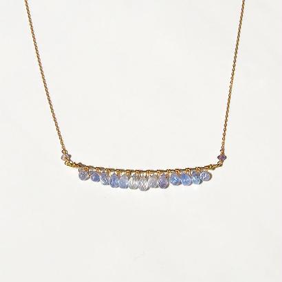 K18◇Sapphire drop Bijoux Necklace.
