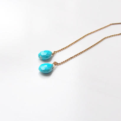 K10◇Drop chain p - Turquoise