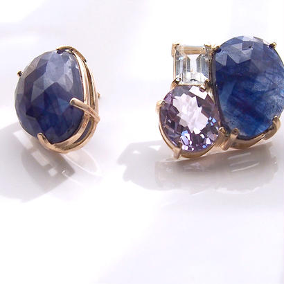 1点もの■Blue Sapphire Bijou P-Set