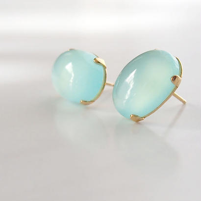 Candy drop P (Sea blue Chalcedony)