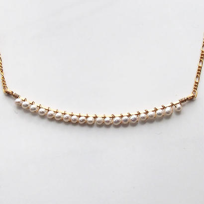 Icicle babypearl necklace