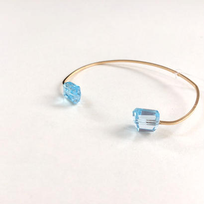 2dot Bangle■Blue topaz