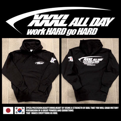 ''XXXL ALL DAY''JAPAN×KOREA プルオーバーパーカー