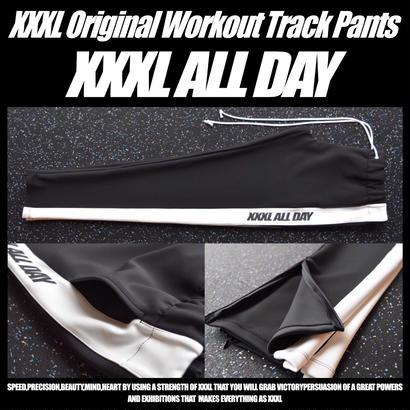 ''XXXL ALL DAY''トラックパンツ WHITE LINE