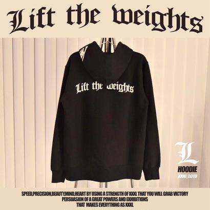 ''Lift the weights''プルオーバーパーカー