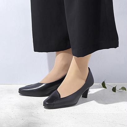 【佳歩と靴】 LINE02  Black