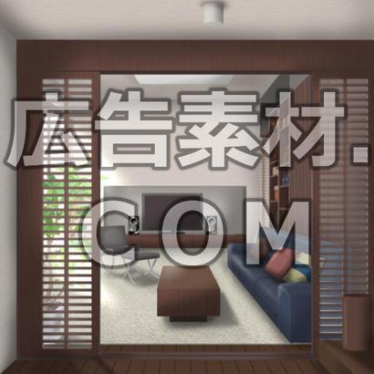 スマホ広告向け背景画像:リビング(昼)