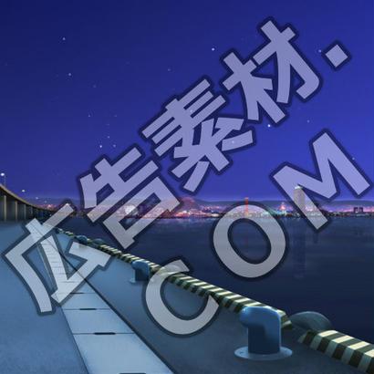 スマホ広告向け背景画像:ロマンティックな夜の波止場