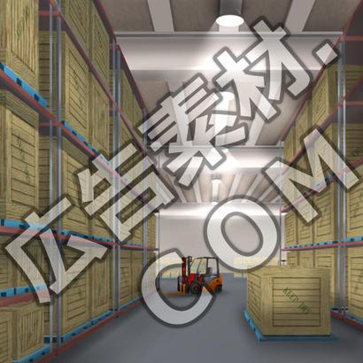 スマホ広告向け背景画像:誰もいない倉庫の中