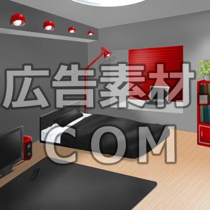 スマホ広告向け背景画像:洒落たワンルーム室内