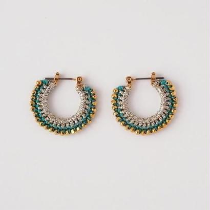 vita gold pierce/earring (Ssize) silver×emerald