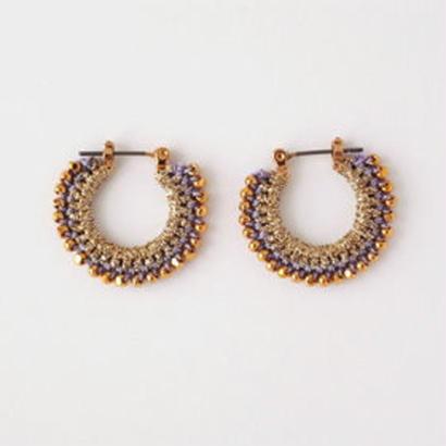 vita gold pierce/earring (Ssize) gold×lavender