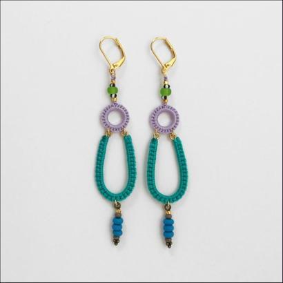 Ramza(single) pierce/earring emerald*lavender