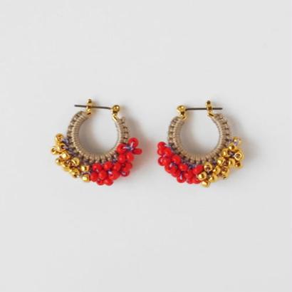 vita pierce/earring bicolor (SSsize) ベージュXゴールド・バーミリオン