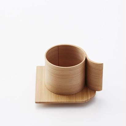 YOnoBI 曲げわっぱカップ&ソーサー αⅡ cup & saucer