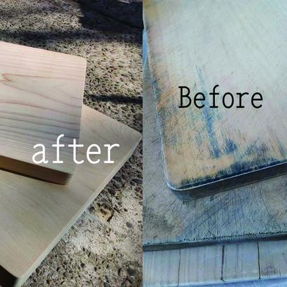 まな板の削り直し