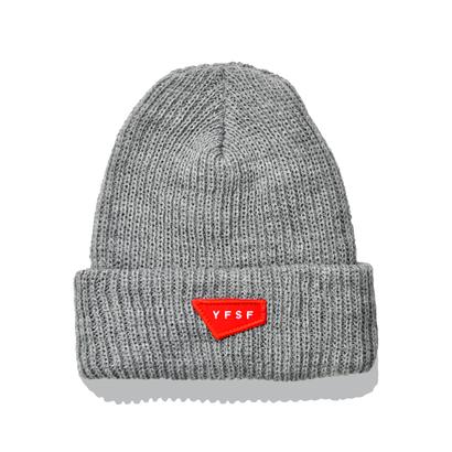 YFSF Patch Knit Cap 【Gray】