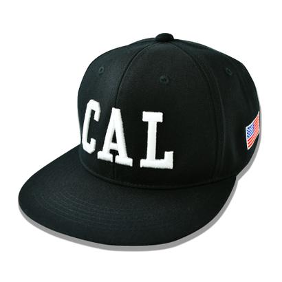 CAL.WEST COAST  Flat Visor Cap【Black × White】