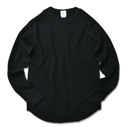 Thermal long sleeve Tee【Black】