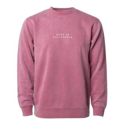 【予約商品】SURF IN CAL. Pigment Dyed crewneck sweatshirt 【Pigment Maroon】