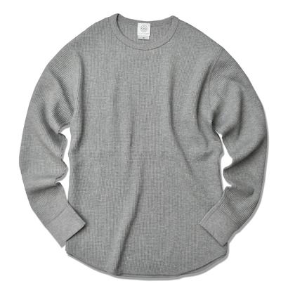 Thermal long sleeve Tee【Gray】