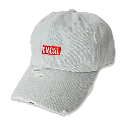 GMCAL Box Logo Damage Cap【Light Denim】