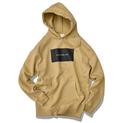【予約商品】ALOHA GOOD LUCK BOX LOGO hooded sweatshirt【Sand】
