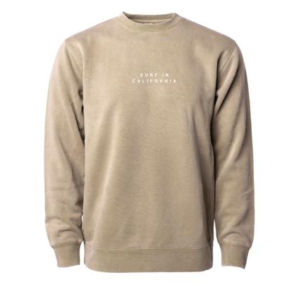 【予約商品】SURF IN CAL. Pigment Dyed crewneck sweatshirt 【Pigment Sandstone】