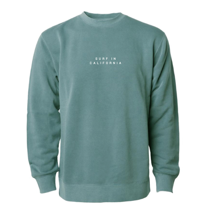 【予約商品】SURF IN CAL. Pigment Dyed crewneck sweatshirt 【Pigment Alpine Green】