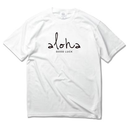 aloha good luck Tee 【White】