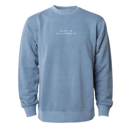 【予約商品】SURF IN CAL. Pigment Dyed crewneck sweatshirt 【Pigment Slate Blue】