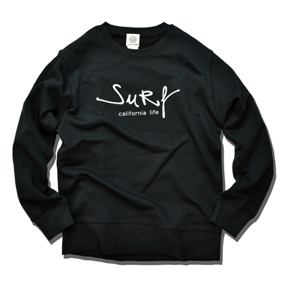 surf california life crewneck sweatshirt【Black】