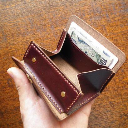 HORWEEN クロムエクセル カードも入る 小銭入れ バーガンディ